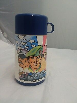 1980's GI Joe vintage Lunch box Thermos