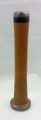 """Vintage Wooden Thread Spool with Metal Ends Bobbin Spindle Sewing Textile 8.25"""""""