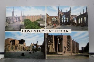 United Kingdom England Coventry Cathedral Postcard Old Vintage Card View Post PC