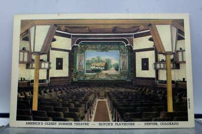 Colorado CO Denver Elitch Playhouse Theater Postcard Old Vintage Card View Post