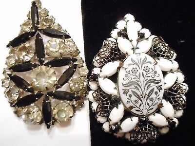 TWO - HARD TO FIND Vintage JULIANA D&E Rhinestone PIN & PENDANTS