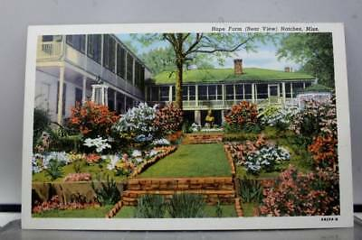Mississippi MS Natchez Hope Farm Rear Postcard Old Vintage Card View Standard PC