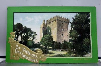 St Patrick's Day Greetings Blarney Castle Postcard Old Vintage Card View Post PC