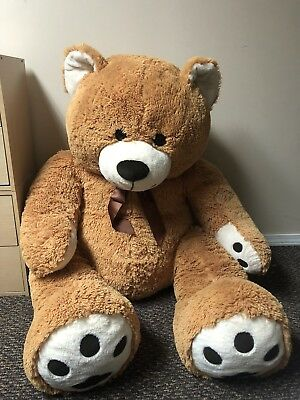 "Oversize Large 53"" Tan Plush Teddy Bear Tan/Brown Giant Stuffed Animal"