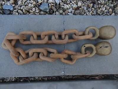 Folk Art Whimsy Carved Wooden Chain