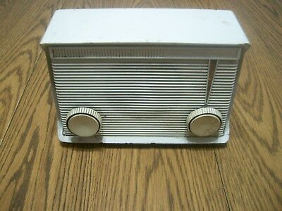 motorola tube style radio am white untested for parts or repair A15W