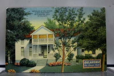 Oklahoma OK Claremore Will Rogers Birthplace Postcard Old Vintage Card View Post