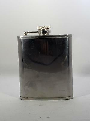 Metrokane Pocket Flask -  With An Attached Screw Cap - Stainless Steel