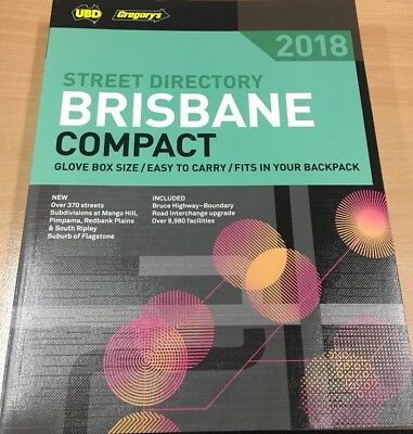 UBD/Gregory's Brisbane Compact Street Directory 2018. Brand New