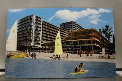 Hawaii HI Waikiki Reef Hotel Beach Postcard Old Vintage Card View Standard Post