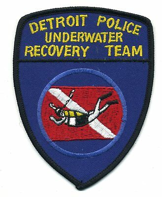 Detroit Michigan - Underwater Dive Team - Scuba patch - police sheriff fire
