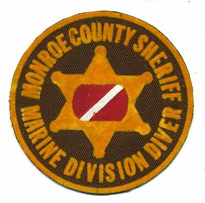 vintage Monroe County Michigan - Dive Team - Scuba patch - police sheriff fire