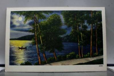 Scenic Lake Moonlight Postcard Old Vintage Card View Standard Souvenir Postal PC