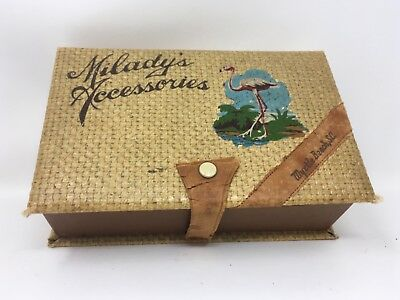 Vintage Myrtle Beach Souvenir Milady's Accessories Box With Compartments