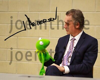 Jordan Peterson Kermit the Frog Signed Autograph Repro 12 Rules for Life 8x10