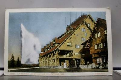 Yellowstone Park Old Faithful Inn Postcard Old Vintage Card View Standard Post