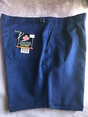 Mens Blue King Gee Utility Shorts Size  112S 100% Cotton Drill Premium Quality