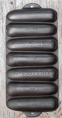 Wagner Ware Cast Iron Junior Krusty Korn Kobs Corn Stick Pan 1319
