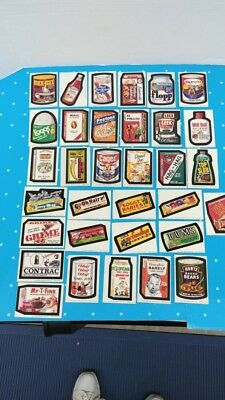 Topps Vintage 1974 Wacky Packages 7th Series All 33 Cards Complete Set Nice