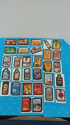 Topps Vintage 1973 Wacky Packages 3rd Series Complete Set 30 Card & Spic Span