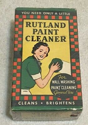 Antique Vintage Collectible Rutland Paint Cleaner Empty Cardboard Box, Vermont