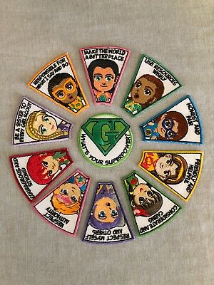 Girl Scouts Superhero Patch Set for Girl Scout Fun Collection