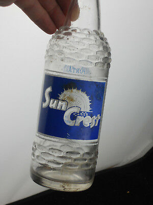 Vintage SUN CREST Soda Pop Bottle 12 oz  FREDERICK MD Dr. Pepper Bottling