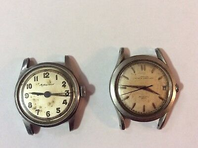 Lot Of Two Vintage Analog / Manual Wind Tissot/ Croton Wristwaches