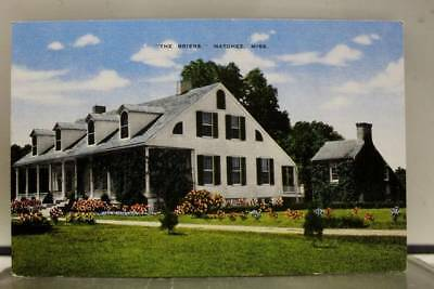 Mississippi MS Briers Natchez Postcard Old Vintage Card View Standard Souvenir