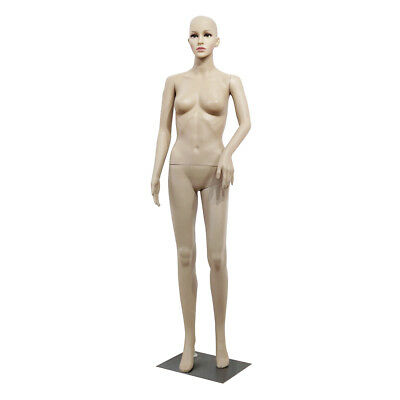 Full Body Female Mannequin w/ Base Realistic Display Head Turns Dress Bent Foot