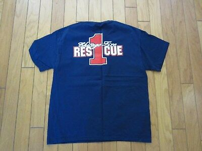 Chicago Rescue 1 Fire Dept Shirt In Large New