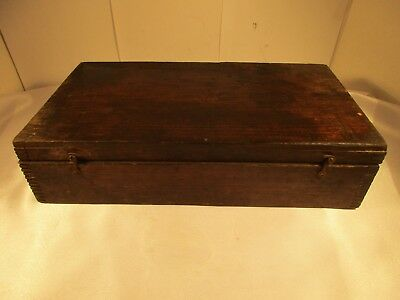 Vintage Rustic TRIUMPH Wood Tool Box for No. R9 Wrench Set. New York