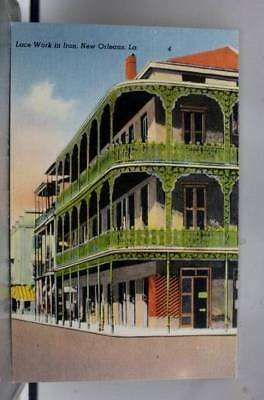 Louisiana LA Lace Work New Orleans Postcard Old Vintage Card View Standard Post