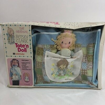 Vintage Hallmark Betsey Clark Tote'n Doll New Old Stock Large Purse Bag 1975
