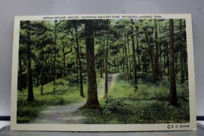 Tennessee TN Indian Mound Shiloh Military Park Pittsburg Landing Postcard Old PC