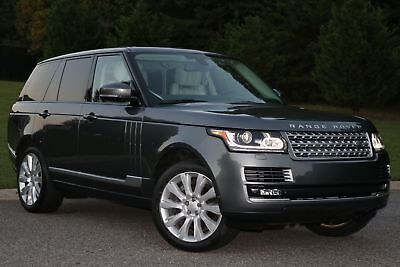 2015 Land Rover Range Rover Supercharged 2015 RANGE ROVER SUPERCHARGED,FULL SIZE SUV,GRAY/GRAY,ALL PWR,37K WARRANTY,MINT