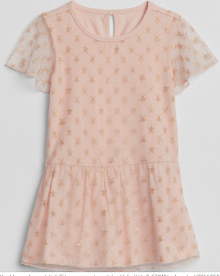 BABY GAP GIRL Scalloped double-layer dress NWT 2T 3T 4T N12 NNN