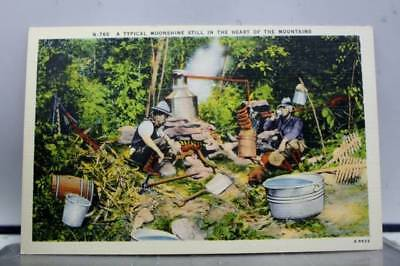 Scenic Moonshine Still in Mountains Postcard Old Vintage Card View Standard Souv