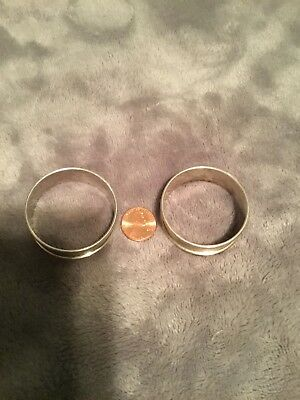 Vintage Pair Of Silver Napkin Rings engraved