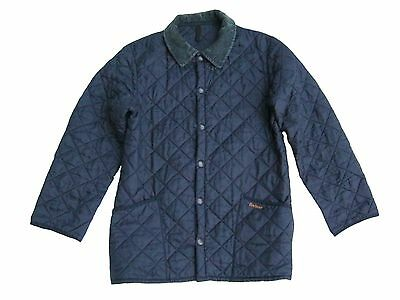 BARBOUR LIDDESDALE Mens Diamond Quilted Utility Lightweight Jacket Blue Size M S