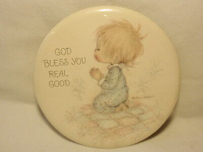 """Hallmark Love Dots Betsey Clark """"God Bless You Real Good"""" Large Button Pin Frame"""