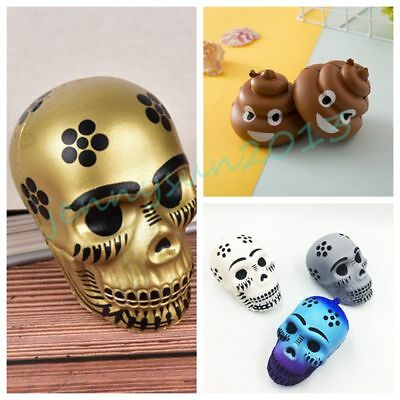 Skull Poo Shape Squishy Slow Rising Squeeze Decompression Toy Kid Novelty Gift