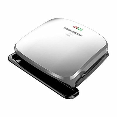 George Foreman 4-Serving Removable Plate Grill and Panini Press, Platinum,