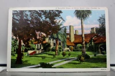 Louisiana LA Kirby Street Home Lake Charles Postcard Old Vintage Card View Post