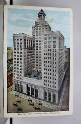 Louisiana LA Hibernia Bank Building New Orleans Postcard Old Vintage Card View