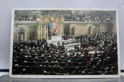 Washington DC President Addressing Congress Postcard Old Vintage Card View Post