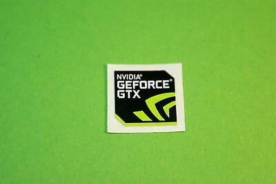 10x Geforce GTX 18x18mm Black Case Badge/Sticker Logo Nhj