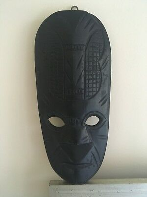 Dark Wooden Tribal Face Mask! Daintree Wood wall hanging