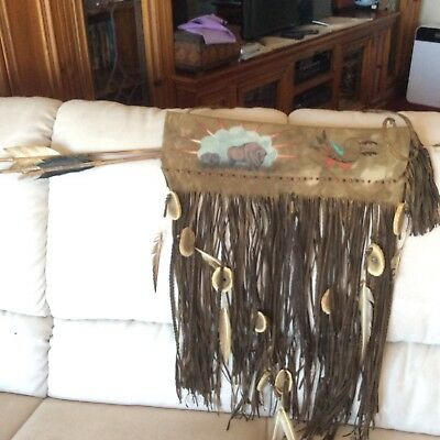 American Indian Quiver And Three Arrows