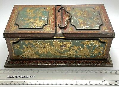 Vintage Antique HUNTLEY & PALMER Tea Caddy Tin